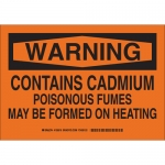 Brady 126520, Warning Contains Cadmium Poisonous… Sign