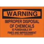 Brady 126570, Warning Improper Disposal Of… Sign