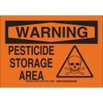 Brady 126597, 10″ x 14″ Aluminum Warning Pesticide Storage Area Sign