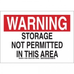 Brady 126603, Storage Not Permitted In This Area Sign