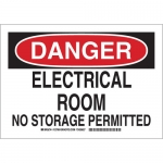 Brady 127005, Electrical Room No Storage Permitted Sign