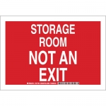 Brady 127101, 10″ x 14″ Aluminum Storage Room Not An Exit Sign