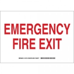 Brady 127152, 7″ x 10″ Aluminum Emergency Fire Exit Sign