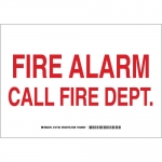Brady 127182, 7″ x 10″ Aluminum Fire Alarm Call Fire Dept Sign