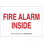 Brady 127188, 7″ x 10″ Aluminum Fire Alarm Inside Sign