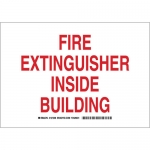 Brady 127209, Fire Extinguisher Inside Building Sign