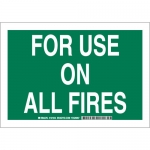 Brady 127245, 10″ x 14″ Aluminum For Use On All Fires Sign
