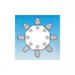 Ace Glass 12732-46, 8-Way Tefzel Omnifit Valve