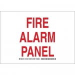 Brady 127341, 10″ x 14″ Aluminum Fire Alarm Panel Sign