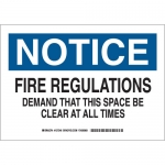 Brady 127347, B555 Notice Fire Regulations… Sign