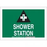 Brady 127390, 10″ x 14″ Polystyrene Shower Station Sign