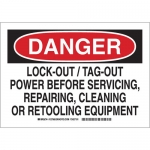 Brady 127570, Danger Lock-Out/Tag-Out Power Before… Sign