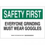 Brady 127762, B-401 Safety First Everyone… Sign