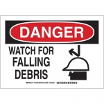 Brady 127943, 10″ x 14″ Polyester Danger Watch For Falling Debris Sign