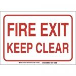 Brady 132138, 7″ x 10″ Aluminum Fire Exit Keep Clear Sign