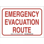 Brady 132175, 10″ x 14″ Polyester Emergency Evacuation Route Sign