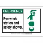 Brady 132215, Eye Wash Station & Safety Shower. Sign