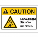 Brady 143995, Caution Low Overhead Clearance… Sign