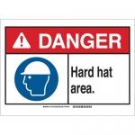 Brady 144152, 10″ x 14″ Polystyrene Danger Hard Hat Area. Sign