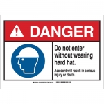 Brady 144196, Do Not Enter w/Out Wearing Hard Hat… Sign