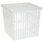 Bel-Art Products 18738-0010, 6″ x 6″ x 6″ Test Tube Basket with Lid