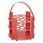 Bel-Art Products 18743-1016, No-Wire Red Round Rack for 16mm Tubes