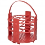 Bel-Art Products 18743-1020, No-Wire Red Round Rack for 20mm Tubes