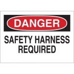Brady 20028, 10″ x 14″ Polystyrene Danger Safety Harness Required Sign