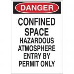 Brady 70252, Confined Space Hazardous Atmosphere Sign