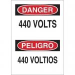 Brady 38684, 14″ x 10″ Polystyrene Bilingual Danger 440 Volts Sign