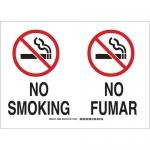 Brady 39821, 14″ x 20″ Fiberglass Bilingualno Smoking Sign