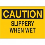 Brady 25601, 10″ x 14″ Polystyrene Caution Slippery When Wet Sign
