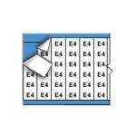 Brady WM-E4-PK, Wire Marker w/ Legend: E4, Black on White