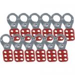 Brady 65376, 4.5″ x 2.25″ Red Steel Lockout Hasp