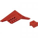 Brady 65666, 2.7″ x 2″ x 4.8″ Red Nylon Small Ball Valve Lockout