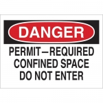 Brady 25921, Danger Permit-Required Confined Space… Sign