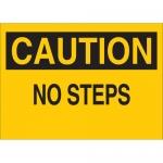 Brady 25597, 10″ x 14″ Polystyrene Caution No Steps Sign