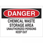 Brady 40644, Waste Storage Area Unauthorized… Sign