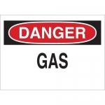 Brady 25423, 10″ x 14″ Polystyrene Danger Gas Sign