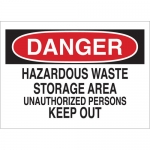 Brady 40666, Danger Hazardous Waste Storage Area… Sign