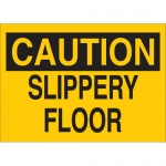 Brady 25599, 10″ x 14″ Polystyrene Caution Slippery Floor Sign