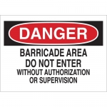 Brady 70852, Do Not Enter w/Out Authorization… Sign