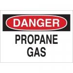 Brady 22342, Danger Propane Gas Sign, Black/Red on White