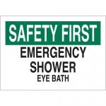 Brady 25575, Safety First Emergencyshower Eye Bath Sign
