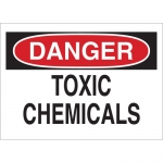 Brady 40908, 10″ x 14″ Aluminum Danger Toxic Chemicals Sign