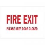 Brady 41060, 7″ x 10″ Aluminum Fire Exit Please Keep Door Closed Sign