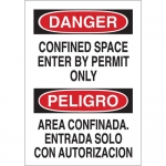 Brady 39967, Confined Space Enter By Permit Only Sign