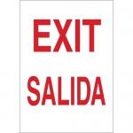 Brady 38797, 14″ x 10″ Polystyrene Bilingual Exit Sign
