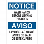 Brady 38425, Your Hands Before Leaving This Room Sign