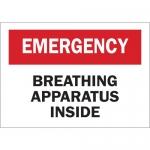 Brady 41221, Emergency Breathing Apparatus Inside Sign